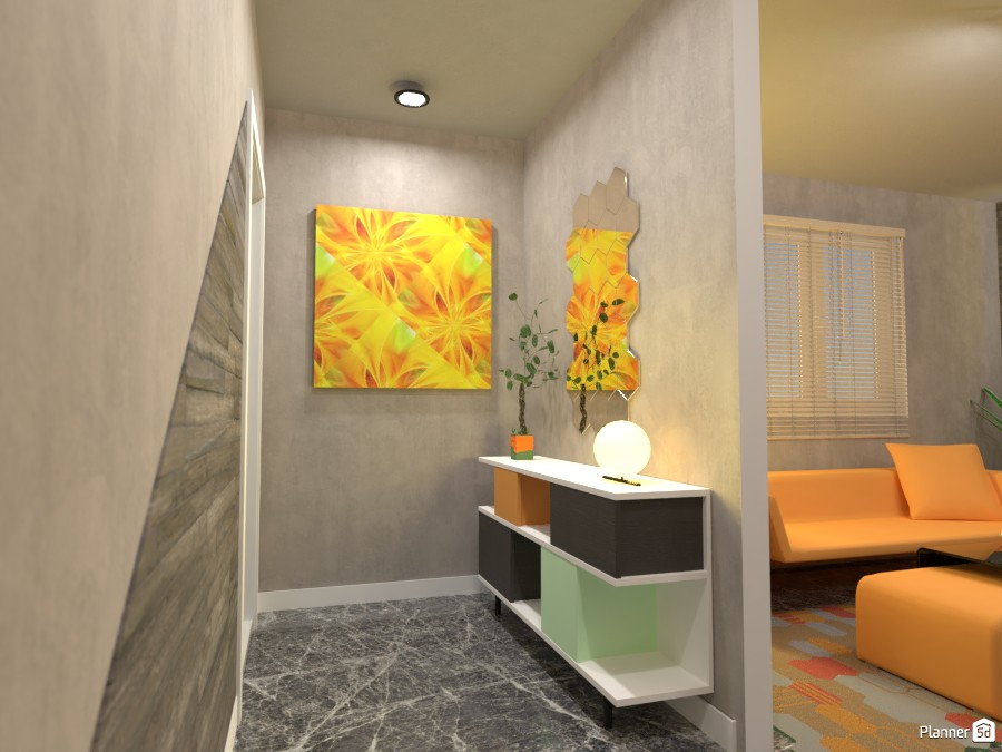 Kitchen with living room: entryway 3500618 by Moonface image