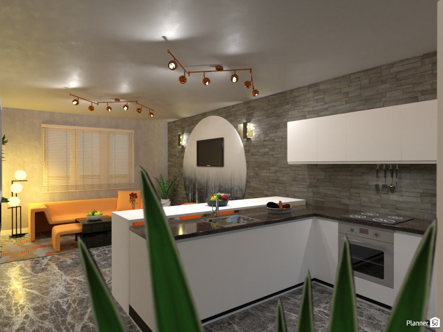 Kitchen with living room: Kitchen 3500625 by Moonface image