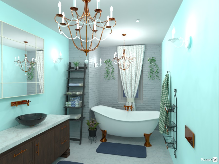 Classic bathroom grey/blue shades 4886755 by Born to be Wild image
