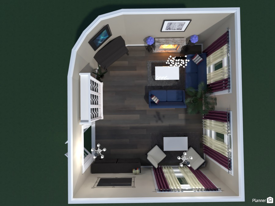 LIVING ROOM WITH A PIANO 82091 by Huzaifah Al-Quraishi image