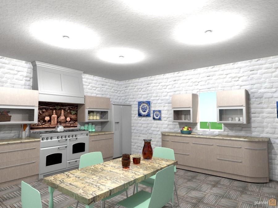 white brick kitchen 1017157 by Joy Suiter image