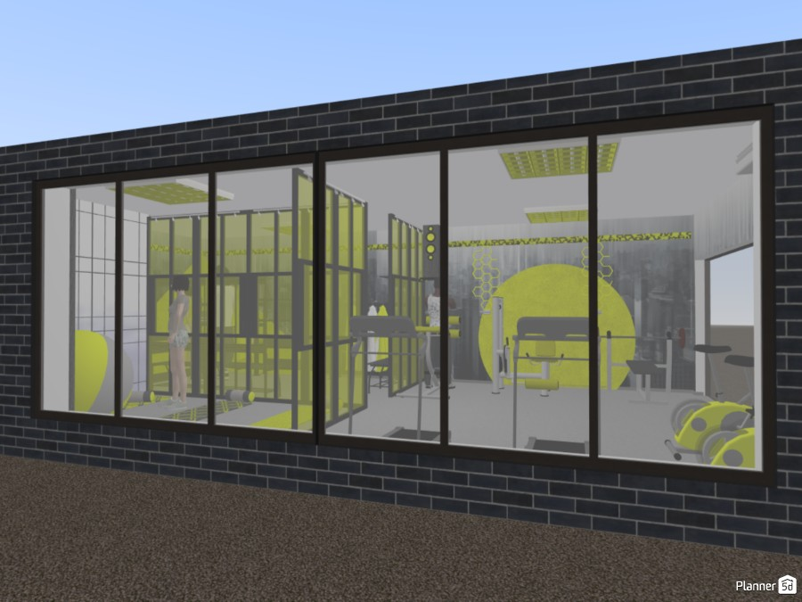 Gray and Yellow Gym Copy 83222 by Milica G. image
