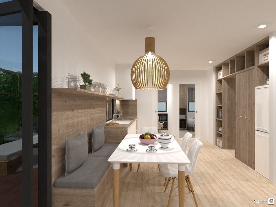Modular & ecological home - kitchen with dining room 4637544 by Lucija Marko image