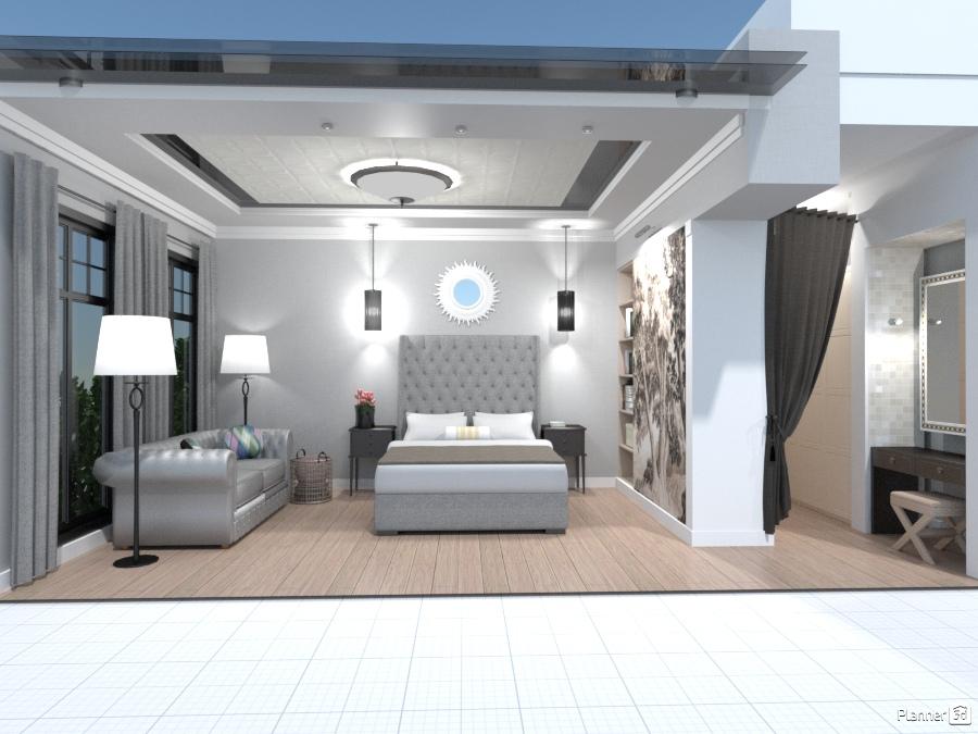 Спальня с гардеробной 1451055 by Elena Strenova image
