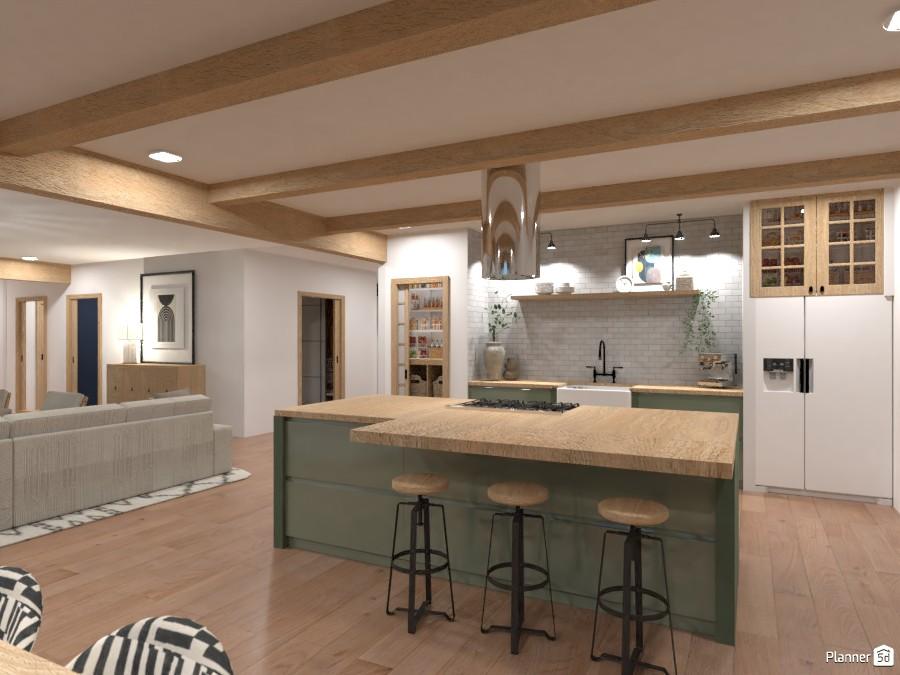 Modern Farmhouse Kitchen 4481245 by Ana G image