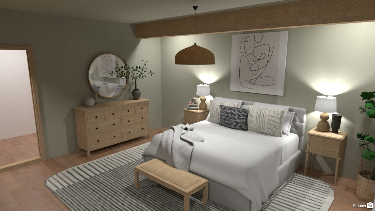 Modern Farmhouse - Master Bedroom with on-suite 4480733 by Ana G image
