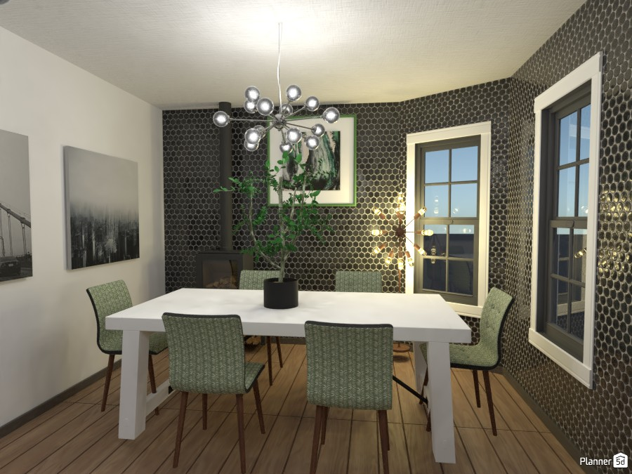 black and green dining room 4465975 by Anonymous:):) image