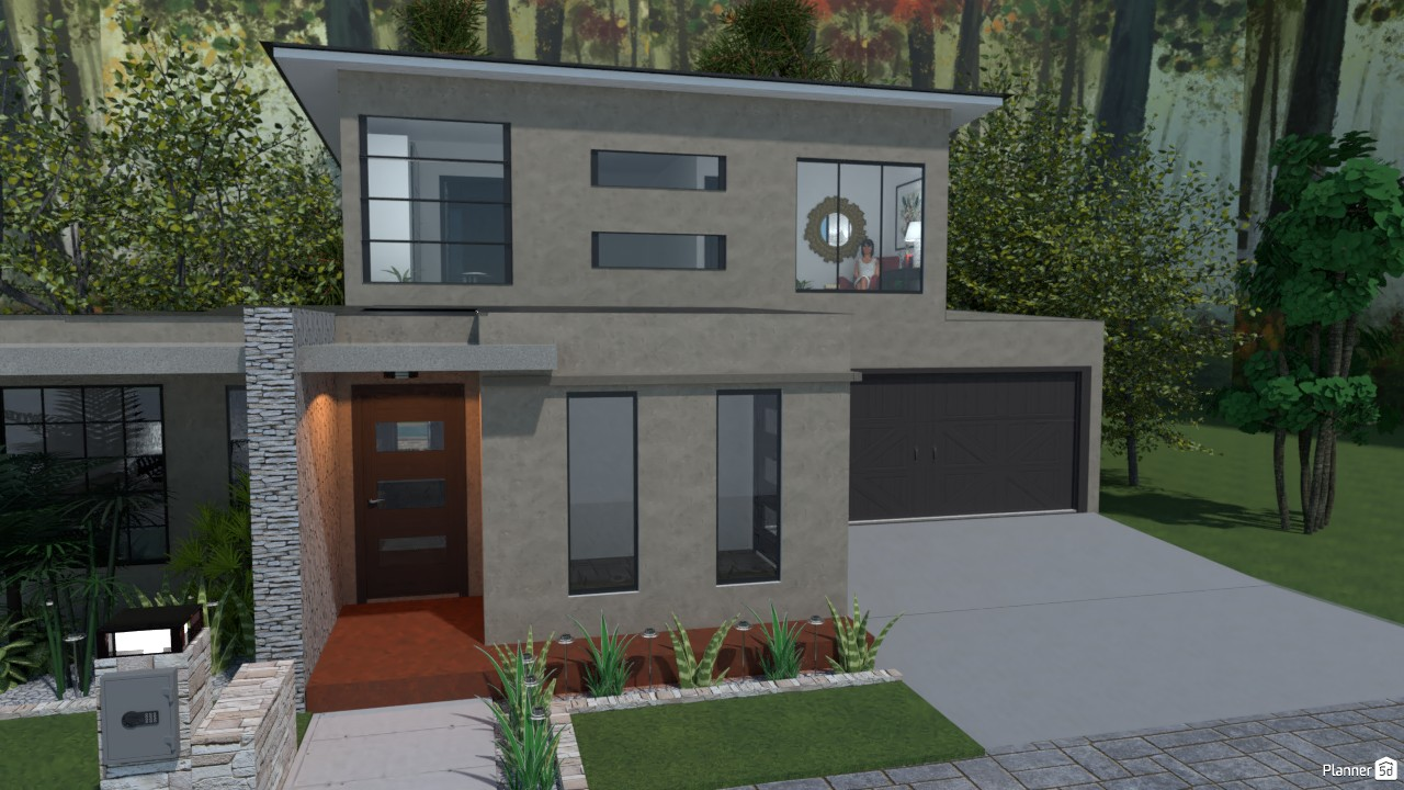2 story modern flat Roof 86682 by Tina Smith image