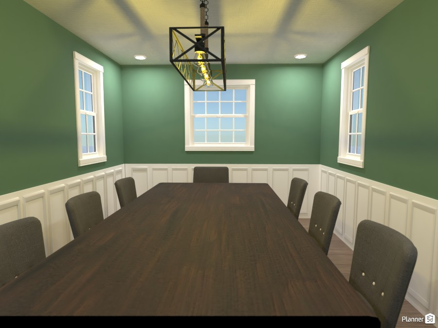 Transitional Dining Room 4633343 by Bridget image