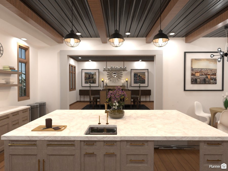 Tudor House Kitchen/Dining Room (Angle 2) 3872698 by DesignKing image