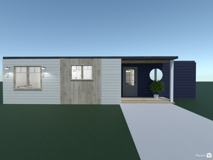 Cute Navy Blue Light Wood House 4634947 by Anonymous1 image