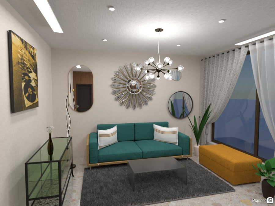 Living room - Vibrant Colors and mirrors 4958140 by Born to be Wild image