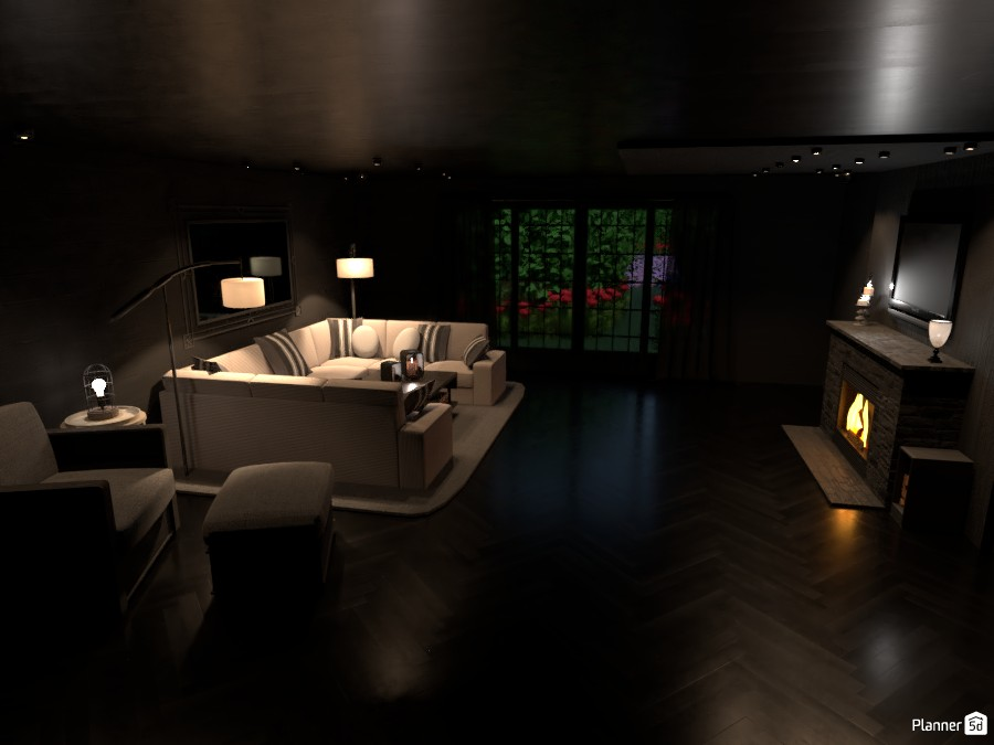 Cozy Dark Living Room 3066417 by ESK image