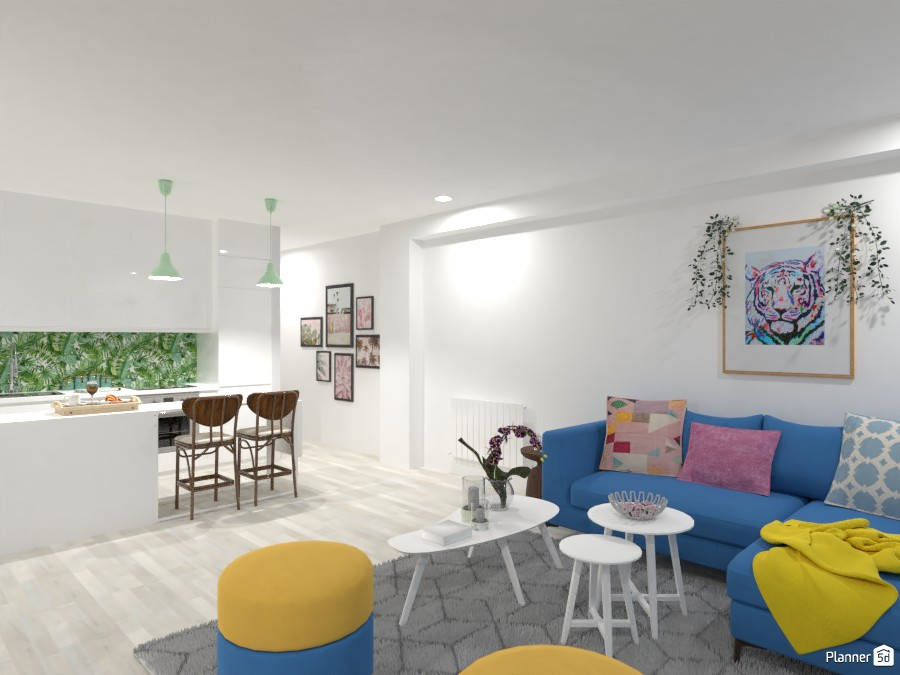 CA with a feminine touch - kitchen + living room 4529288 by Lucija Marko image