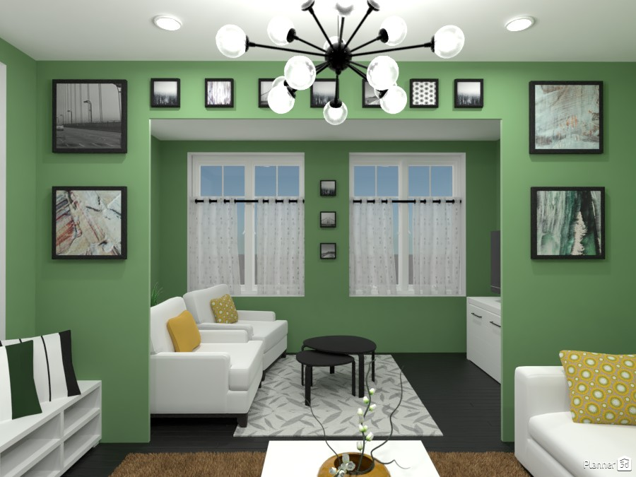 Contest: living room with paintings 4570768 by Elena Z image