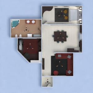 planos apartamento bricolaje dormitorio salón cocina despacho iluminación 3d