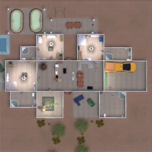 floorplans house terrace furniture decor bathroom 3d