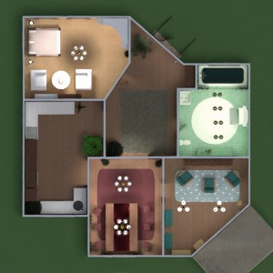 floorplans dom taras wystrój wnętrz łazienka sypialnia pokój dzienny kuchnia na zewnątrz krajobraz jadalnia wejście 3d