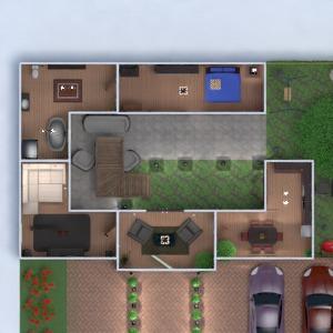 floorplans casa faça você mesmo quarto quarto garagem cozinha iluminação 3d