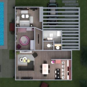 floorplans butas namas terasa baldai dekoras vonia miegamasis svetainė virtuvė vaikų kambarys apšvietimas kraštovaizdis namų apyvoka аrchitektūra sandėliukas studija prieškambaris 3d