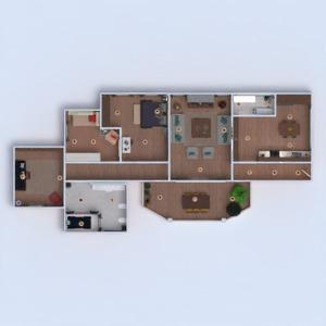 planos apartamento terraza muebles decoración dormitorio cocina despacho iluminación comedor 3d