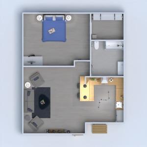 floorplans wohnung dekor badezimmer schlafzimmer küche 3d