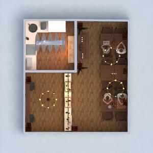 floorplans mobílias decoração cozinha iluminação reforma utensílios domésticos cafeterias sala de jantar arquitetura 3d