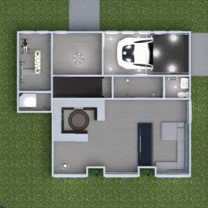 floorplans house living room garage kitchen outdoor 3d