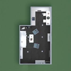 planos decoración salón cocina iluminación comedor 3d