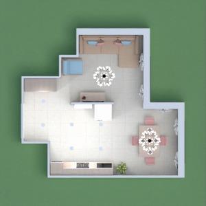 floorplans mobiliar dekor wohnzimmer küche esszimmer 3d