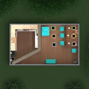 floorplans mieszkanie dom meble wystrój wnętrz kuchnia oświetlenie jadalnia przechowywanie 3d