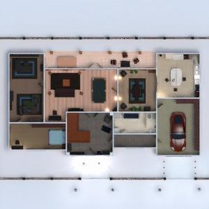 floorplans 独栋别墅 露台 家具 浴室 卧室 客厅 厨房 3d