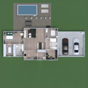 floorplans namas dekoras miegamasis svetainė biuras 3d