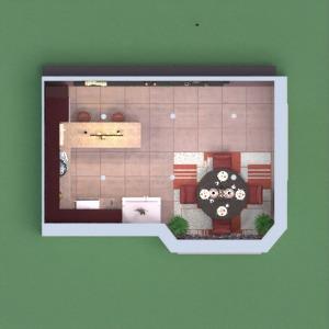 планировки дом мебель декор кухня 3d