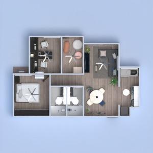 floorplans apartment decor bedroom kitchen dining room 3d