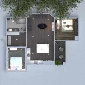 floorplans 公寓 露台 浴室 卧室 3d