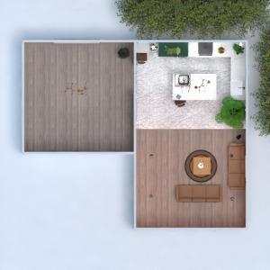 floorplans maison salon cuisine eclairage 3d