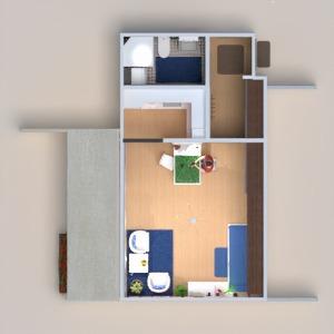 planos apartamento terraza cuarto de baño dormitorio salón cocina iluminación hogar arquitectura estudio descansillo 3d