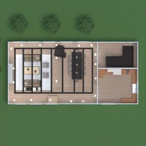 floorplans maison meubles salle de bains chambre à coucher salon cuisine chambre d'enfant eclairage café salle à manger espace de rangement entrée 3d