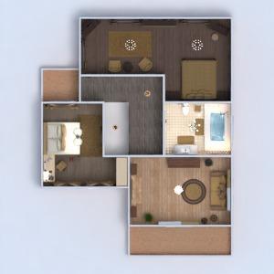 floorplans apartamento casa varanda inferior mobílias decoração faça você mesmo banheiro quarto quarto garagem cozinha área externa utensílios domésticos arquitetura 3d