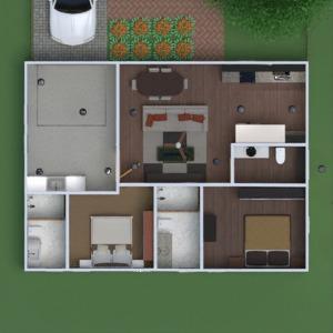 floorplans maison meubles salon cuisine rénovation 3d