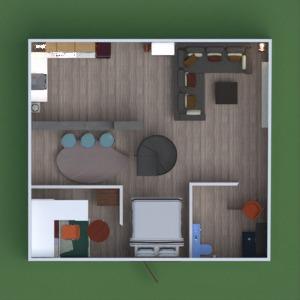 floorplans apartamento mobílias decoração iluminação arquitetura 3d
