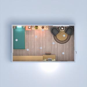 floorplans appartement chambre à coucher salon 3d