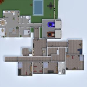 floorplans haus mobiliar schlafzimmer küche outdoor 3d