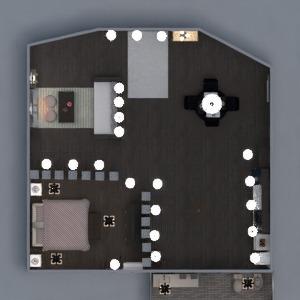 floorplans appartement meubles décoration salle de bains chambre à coucher salon eclairage maison salle à manger 3d