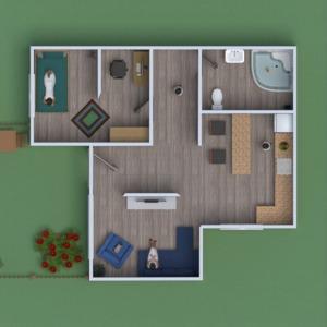 floorplans casa mobílias arquitetura 3d