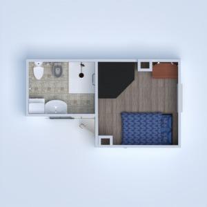 progetti bagno camera da letto 3d