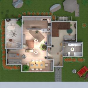 floorplans namas terasa dekoras miegamasis svetainė vaikų kambarys renovacija namų apyvoka 3d