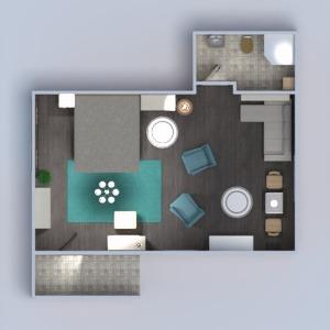 planos apartamento muebles cuarto de baño dormitorio comedor 3d