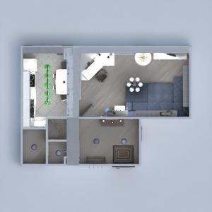 планировки квартира мебель гостиная кухня 3d